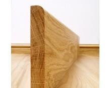 Plinthe Chêne Massif 20x80 Bord Arrondi  - Qualité Rustique