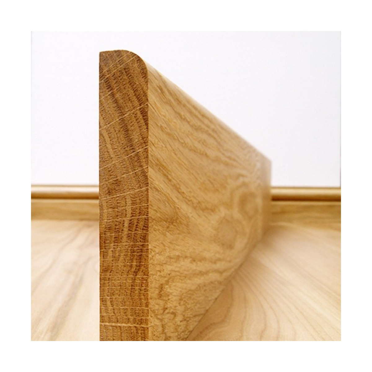Plinthe Chêne Massif 20x120 Bord Arrondi  - Qualité Rustique