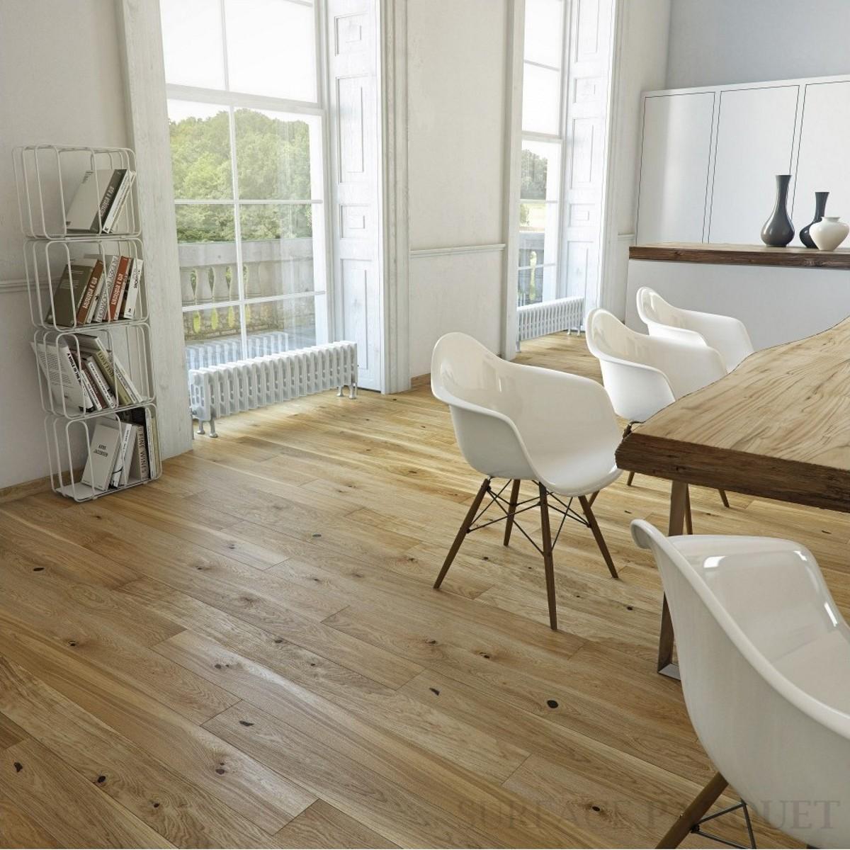 Parquet Chêne Contrecollé Brossé Vernis 10x150 - Qualité Rustique
