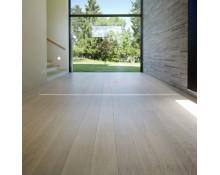 Parquet Chêne Contrecollé Brossé Vernis Blanc 15x190 - Qualité Rustique +