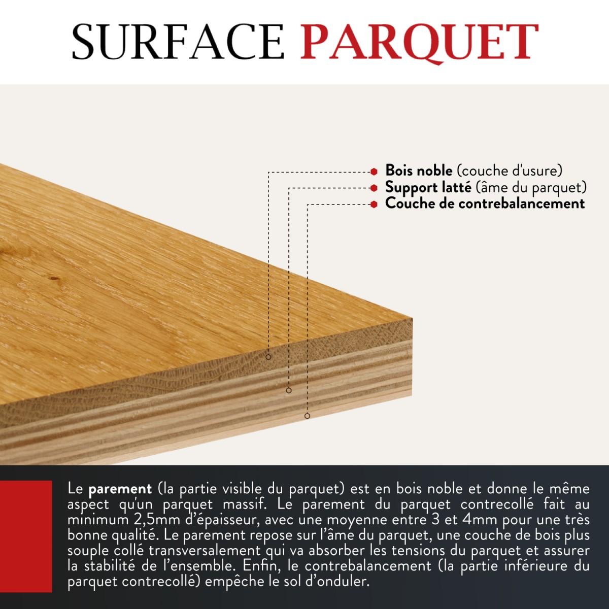Parquet Chêne Contrecollé Huilé Wood Effect Sansa 15x220 - Qualité Rustique