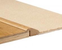 Seuil de Recouvrement MDF Placage Chêne Naturel 18x50 - Qualité Premium