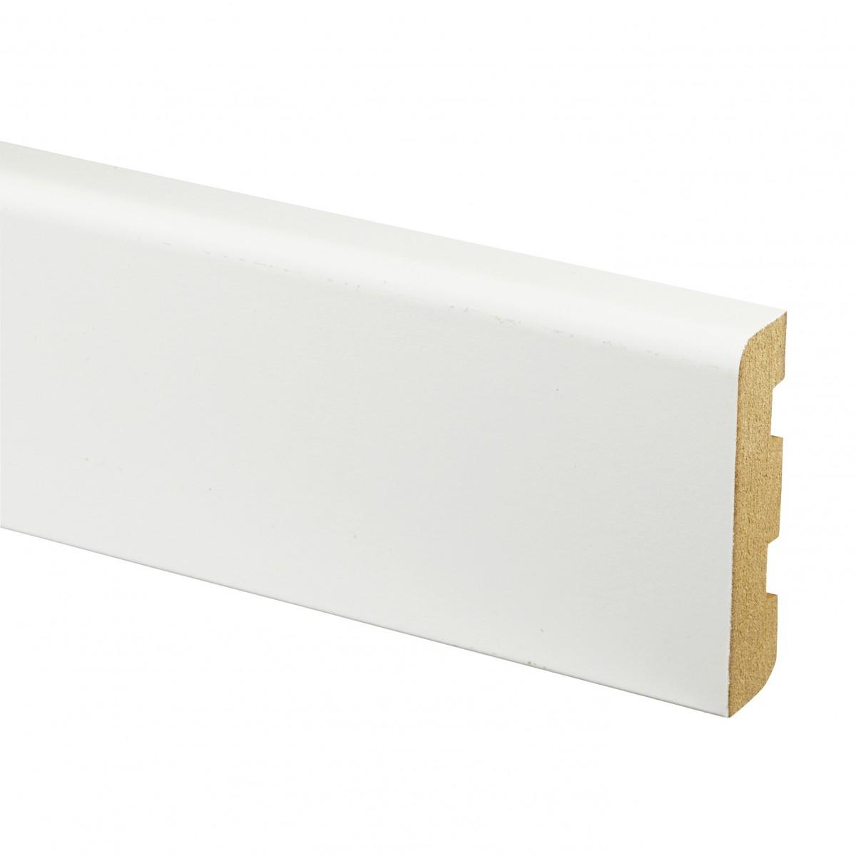 Plinthe MDF Blanche à Peindre 14x80 - Qualité Premium